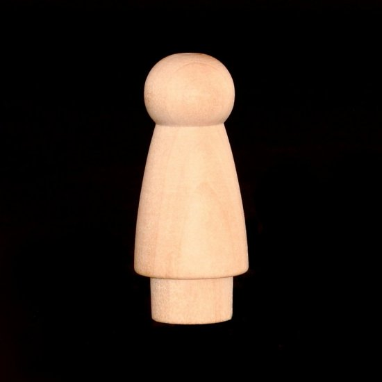 "Angel Peg Doll - 2"" Tall x 7/8"" Diameter - Click Image to Close"