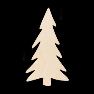 Shaker Woods Christmas In The Woods.Christmas Tree Skinny Style Hand Cut Plywood