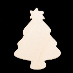 Shaker Woods Christmas In The Woods.Christmas Tree With Star Hand Cut Plywood