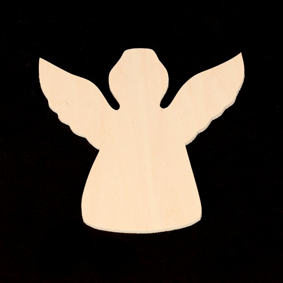 "Angel Cutout - 3-3/4"" Wide x 3-3/4"" Tall x 1/8"" Thick"