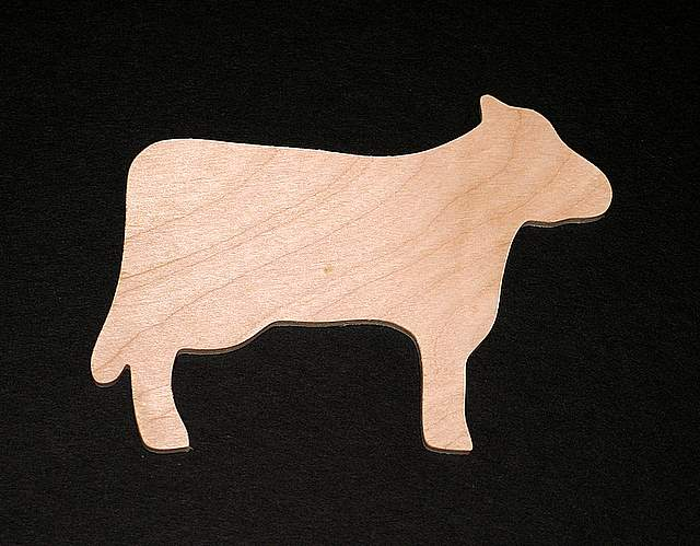 Cow Cutout Hand Cut Plywood 169a 0 790 Casey S