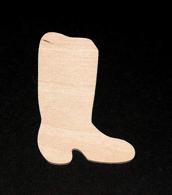 Cowboy Boot Cutout Handcut Plywood Hc Cbboot 0